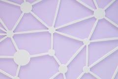 与白色小点和线墙壁的紫色 免版税库存图片