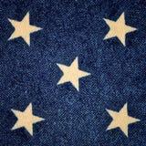 与白色星的蓝色背景 库存照片