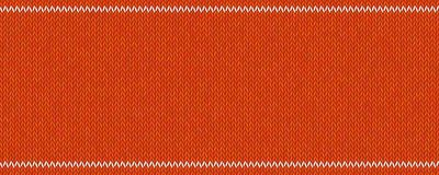 与白色条纹的被编织的纹理在红色羊毛背景 免版税图库摄影