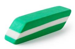 与白色橡皮擦的绿色 免版税图库摄影