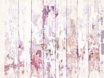 与白色油漆的破旧的脏的困厄的木地板纹理 库存照片