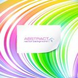 与白色的彩虹抽象线背景 免版税库存照片