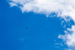 与白色的蓝天覆盖系列12 免版税库存图片