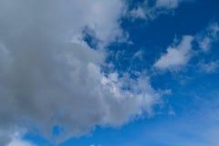与白色积云的蓝色夏天天空 蓝色夏天天空白色积云背景 免版税库存图片
