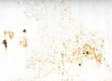 与白色空间的老土气金属背景 免版税库存图片