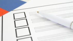 与白色笔的投票的选票在俄罗斯 股票录像