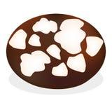 与白色粉末crincles的新近地被烘烤的薄脆饼干  库存图片