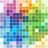 与白色边界的五颜六色的方形的马赛克(背景或样式) 免版税库存照片