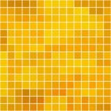 与白色边界的蜂蜜方形的瓦片马赛克-无缝的背景 图库摄影