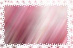 与白色边界的被弄脏的对角条纹在桃红色 免版税图库摄影