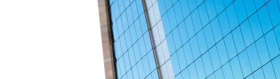 与白色铝的大厦 免版税图库摄影