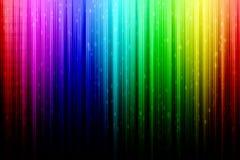 与白色雨的彩虹摘要 免版税库存照片