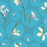 与百合的花卉无缝的传染媒介样式 皇族释放例证