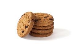 与的一些自创曲奇饼切片巧克力 免版税库存照片