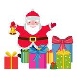 与的动画片圣诞老人礼物 图库摄影