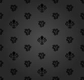 与皇家百合的无缝的样式 免版税库存照片