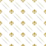 与皇家百合的无缝的样式 库存图片