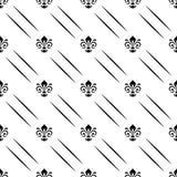 与皇家百合的无缝的样式 免版税图库摄影