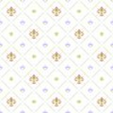 与皇家百合的无缝的样式 图库摄影