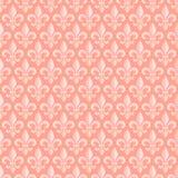 与皇家百合的桃红色无缝的样式 免版税库存照片