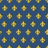 与皇家百合纹理的无缝的样式 库存照片