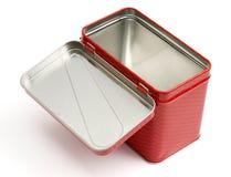 与盒盖的金属配件箱 免版税库存图片
