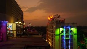 与盒盖的Nightscene大厦在马杜赖,印度 库存图片