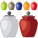 与盖子的花瓶 免版税库存图片