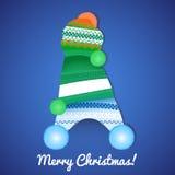 与盖帽的圣诞卡 免版税库存图片