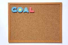 与目标字词的黄柏板 库存照片