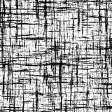 与相交的难看的东西条纹的黑白抽象背景 免版税库存图片