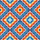 与相称几何装饰品的明亮的无缝的样式 五颜六色抽象的背景 种族和部族主题 向量例证