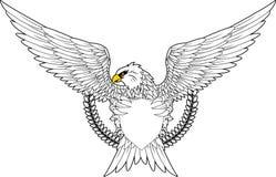 与盾的老鹰您的设计 免版税库存图片
