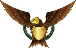 与盾的老鹰您的设计 库存照片