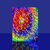 与看板卡的背景与与反映的星形 库存例证