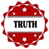 与真相文本的红色标签 免版税库存照片