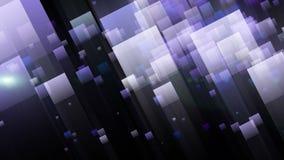 与眨眼睛光和颜色改变的正方形,圈HD 1080p的未来派动画 库存例证