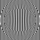 与眼状的图,黑白几何背景的抽象无缝的样式 库存照片