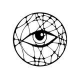 与眼睛的图表例证 库存照片