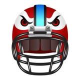 与眼睛的橄榄球盔 库存照片