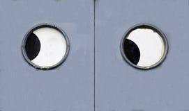 与眼睛的门 免版税库存图片