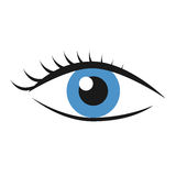 与睫毛的眼睛 免版税图库摄影