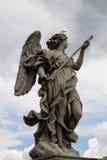 与矛的天使 库存照片