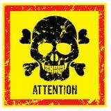 与短桨注意和警告传染媒介图象的标志 免版税库存照片