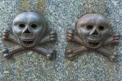 与短桨的安心在18世纪坟墓 库存图片