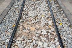 与石渣的铁路 免版税库存照片