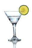与石灰的马蒂尼鸡尾酒玻璃 图库摄影