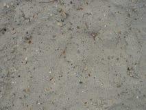 与石头的沙子 免版税图库摄影