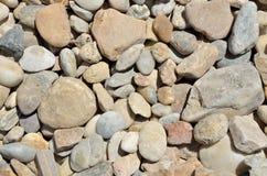 与石头的纹理 免版税库存图片