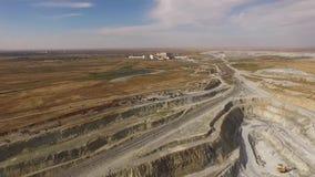 与矿物提取的巨型猎物 股票录像